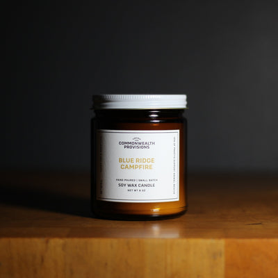 Commonwealth Provisions Blue Ridge Campfire Candle