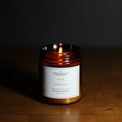 Commonwealth Provisions Pine + Leather Candle