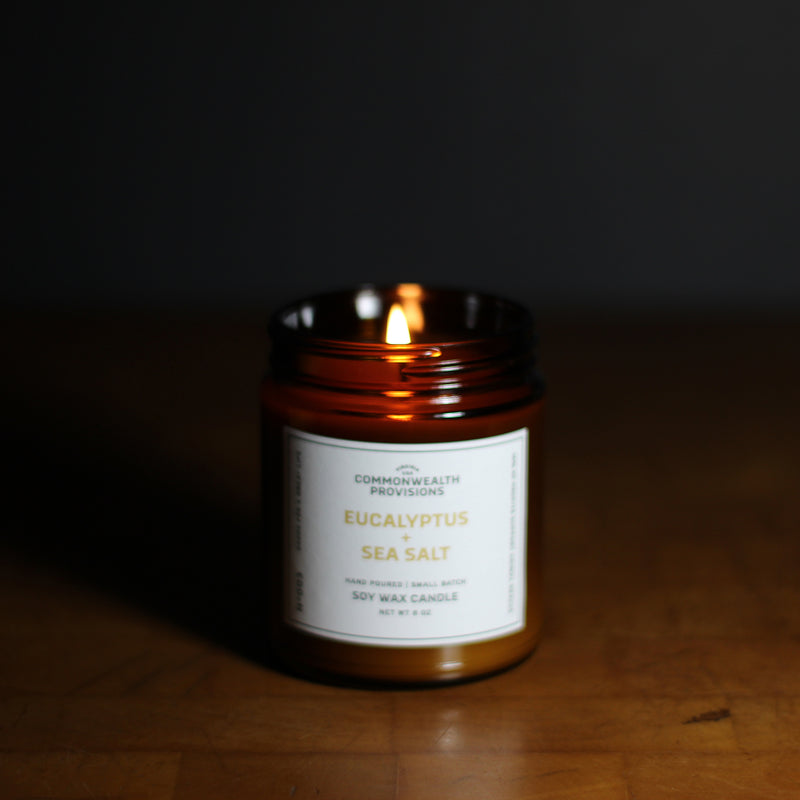 Commonwealth Provisions Eucalyptus + Sea Salt Candle