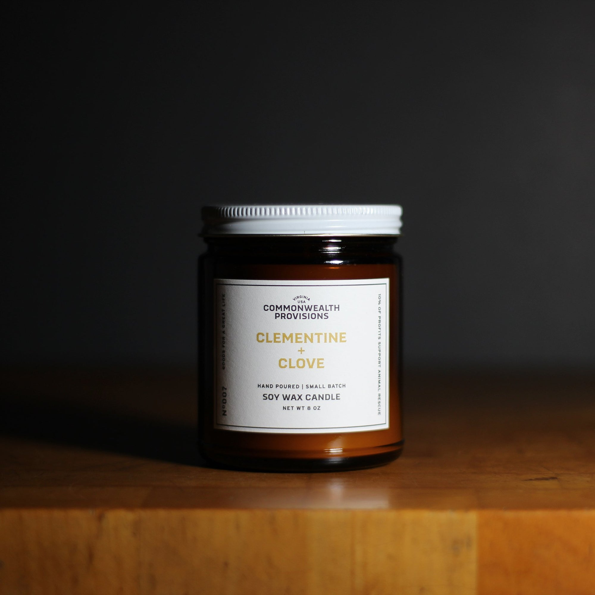 Commonwealth Provisions Clementine + Clove Candle