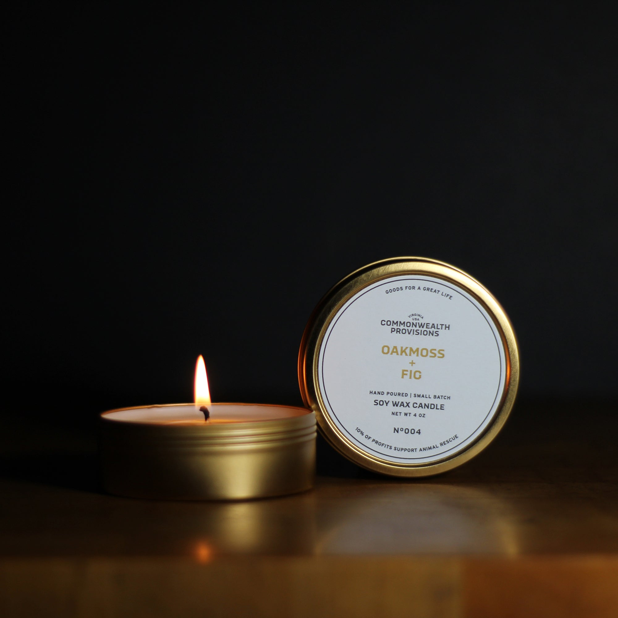 Commonwealth Provisions Oakmoss + Fig Travel Candle