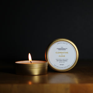 Clementine + Clove Travel Candle