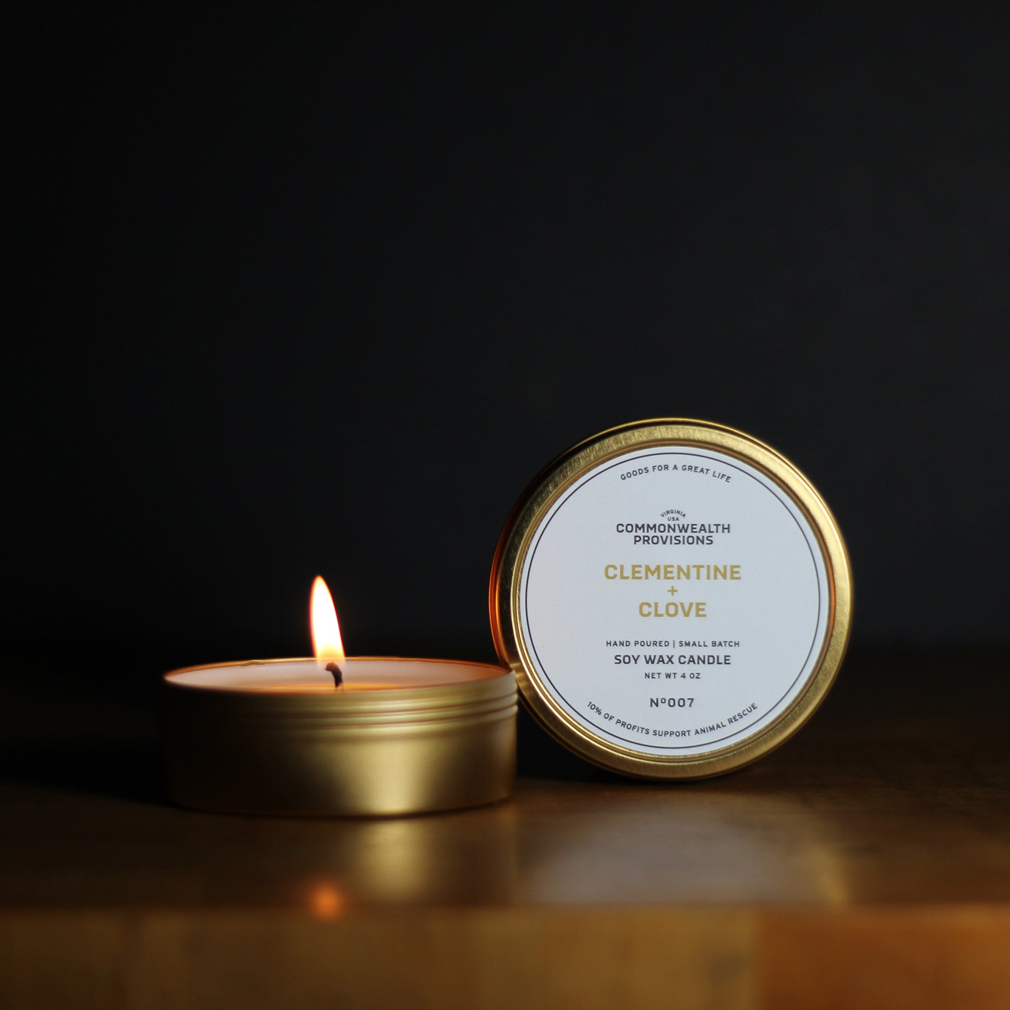 Commonwealth Provisions Clementine + Clove Travel Candle