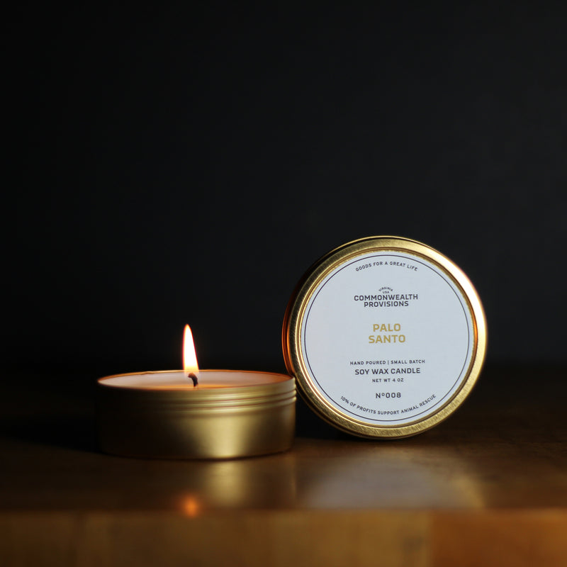 Commonwealth Provisions Palo Santo Travel Candle