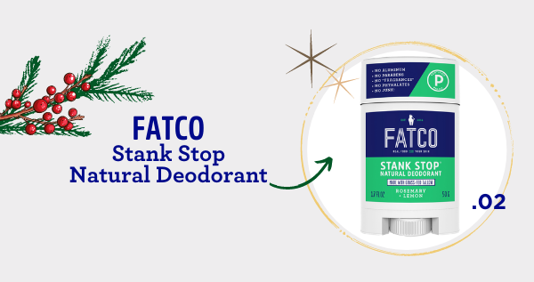 fatco holiday gift guide athlete FATCO Stank stop natural deodorant