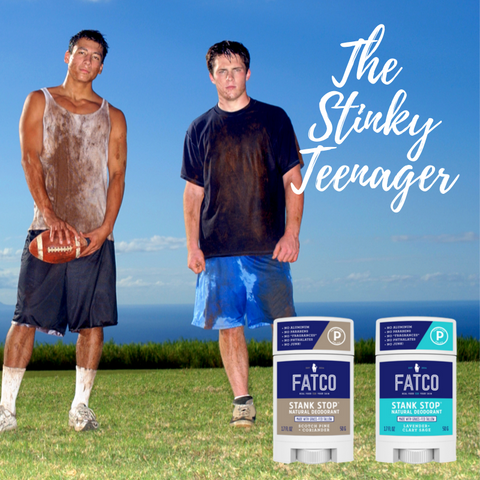 fatco stinky teenager stank stop natural deodorant