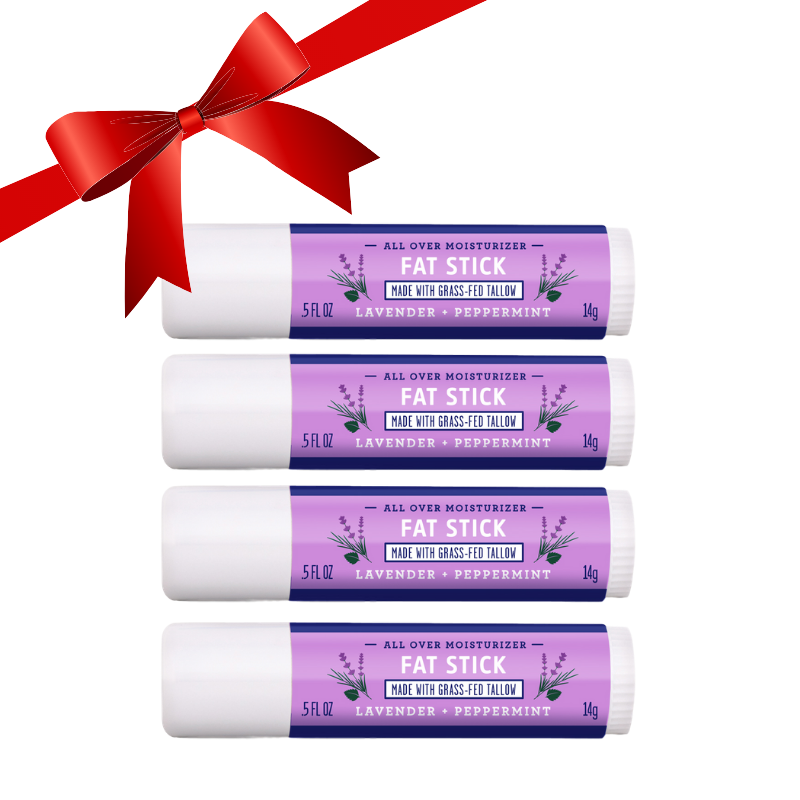 FATCO Fat Stick Lavender and Peppermint all purpose moisturizing stick 4 pack