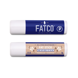 FAT STICK, Vanilla + Coffee, 0.5 OZ-FATCO Skincare Products tallow balm paleo skincare eczema psoriasis moisturizing anti aging nourishing