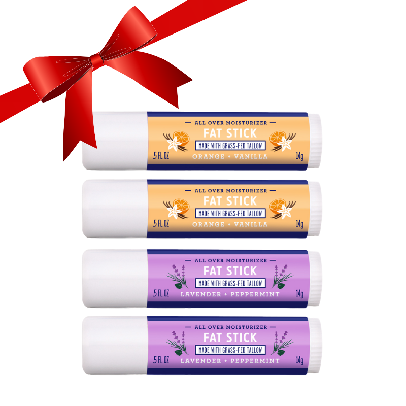 FAT STICK Orange & Lavender Combo 4-Pack