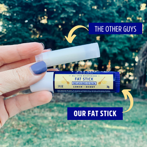 FAT STICK, Lemon + Honey, 0.5 OZ