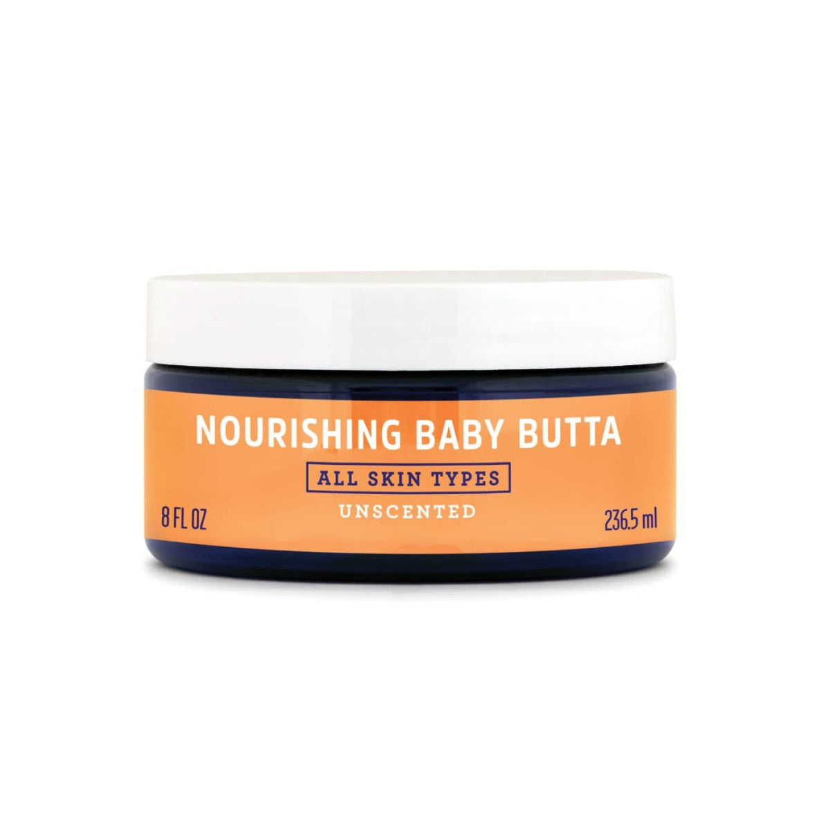 a jar of FATCO Nourishing Baby Butta paleo tallow balm 8oz Jar Side view against a white background