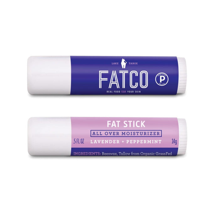 FAT STICK, Lavender + Peppermint, 0.5 OZ-FATCO Skincare Products tallow balm paleo skincare eczema psoriasis moisturizing anti aging nourishing