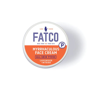 FATCO Myrrhaculous face Cream 2 oz jar top view