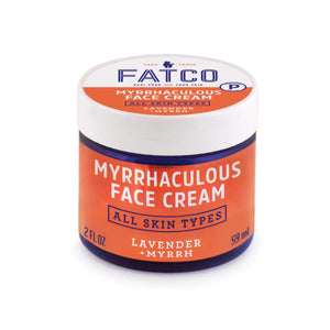 FATCO Myrrhaculous face Cream 2 oz jar front angled view