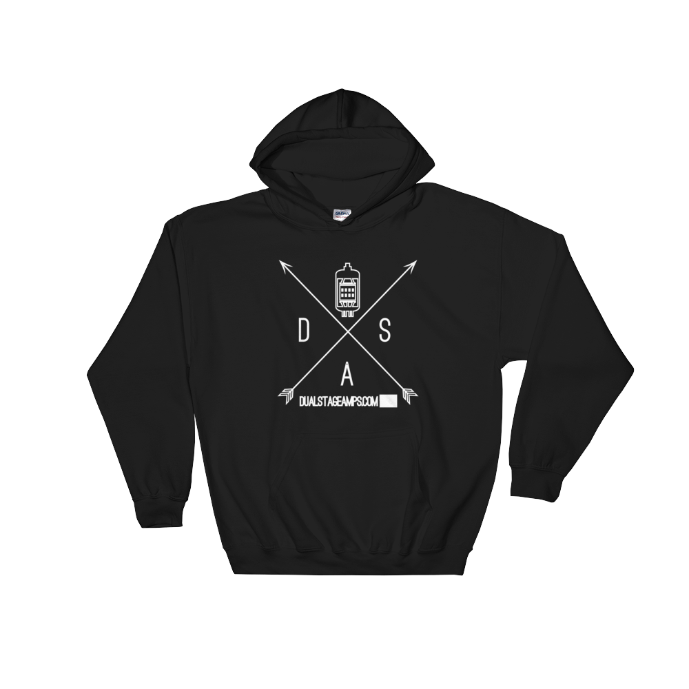 Dual Stage Amplification 12AX7 Hoodie (White Print)