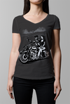 BAGGER HARLEY TATTOO Design - WOMENS V-NECK TOP