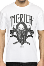 MERICA Masked -Tattoo Design Tee