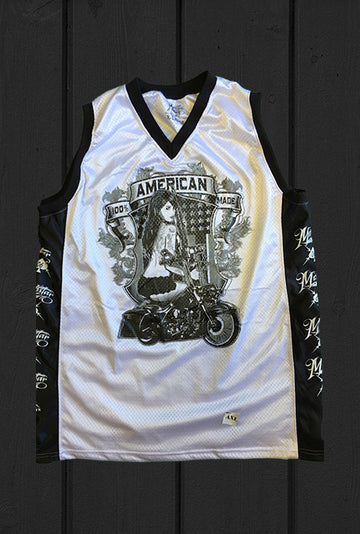 100% AMERICAN MADE TATTOO Design- Custom Mesh Jersey