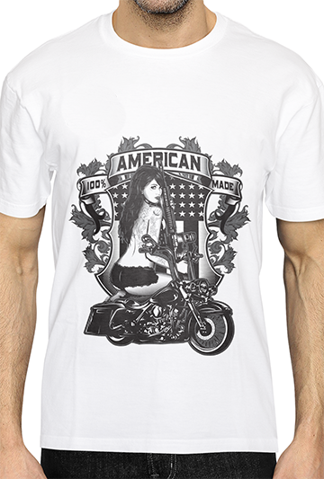 100% AMERICAN MADE TATTOO Design - PRESHRUNK COTTON TEE SHIRT
