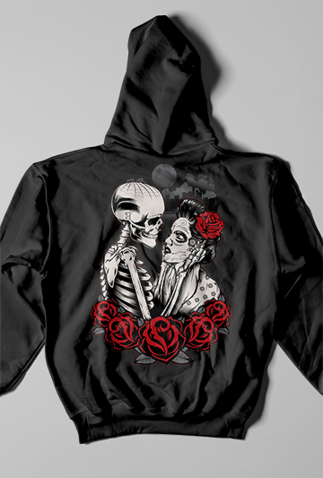 TillDeath Black Hoodie Female