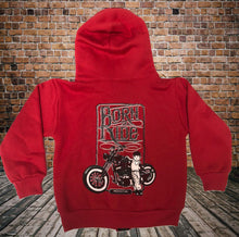 Born To Ride Kids Zipper Hoodie