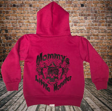Mommy's Little Monster Kids Zipper Hoodie