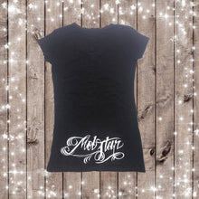 CALIFORNIA LOVE TATTOO Design- WOMENS LACED V-NECK TOP