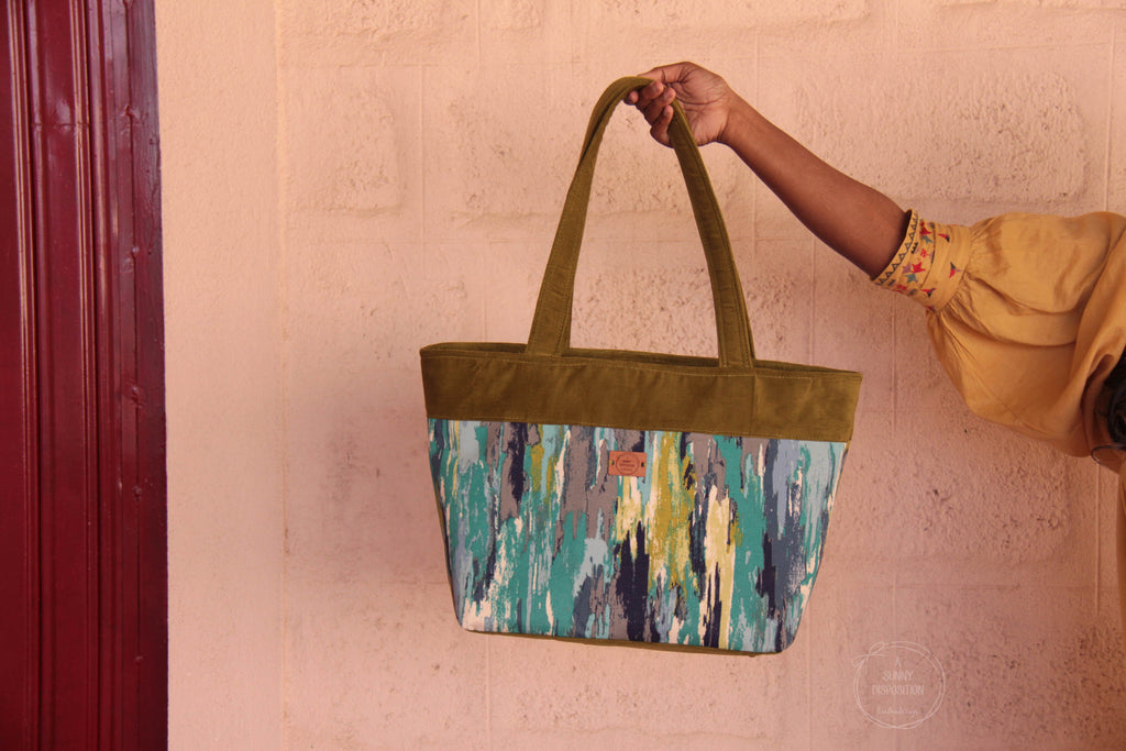 Paint Strokes Dump It Tote