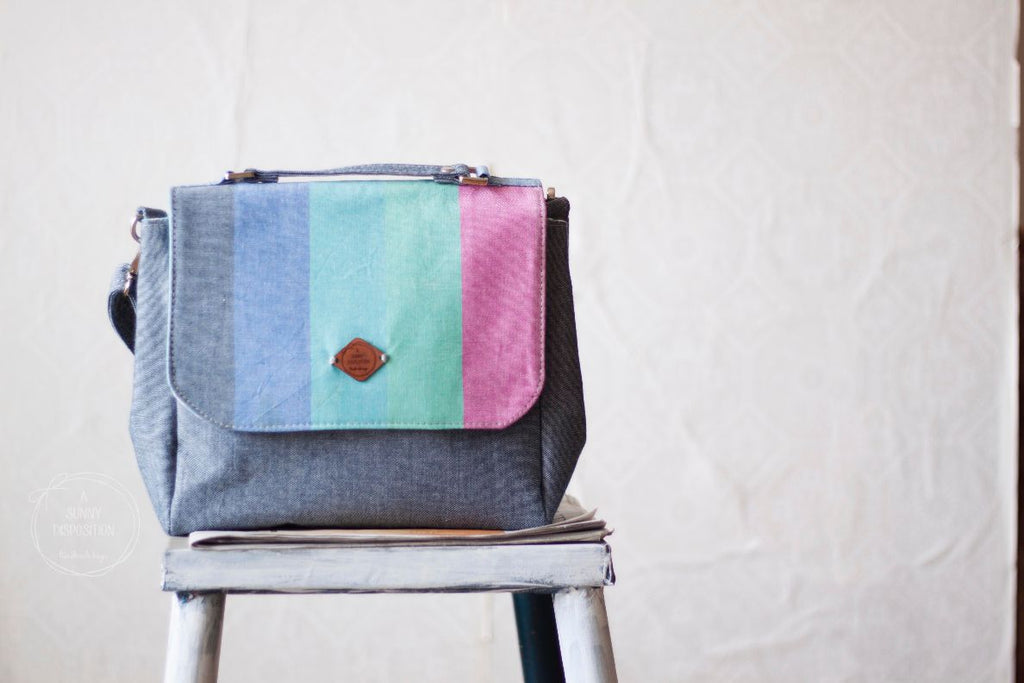 Pastel Stripes Everyday Satchel