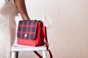 Black & Red Checkered Everyday Satchel