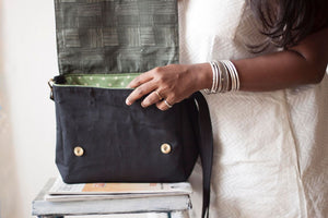 Black & Brown Checkered Everyday Satchel