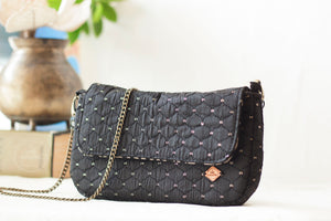 Black Quilted Clutch
