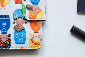 Babushka Dolls Passport Wallet