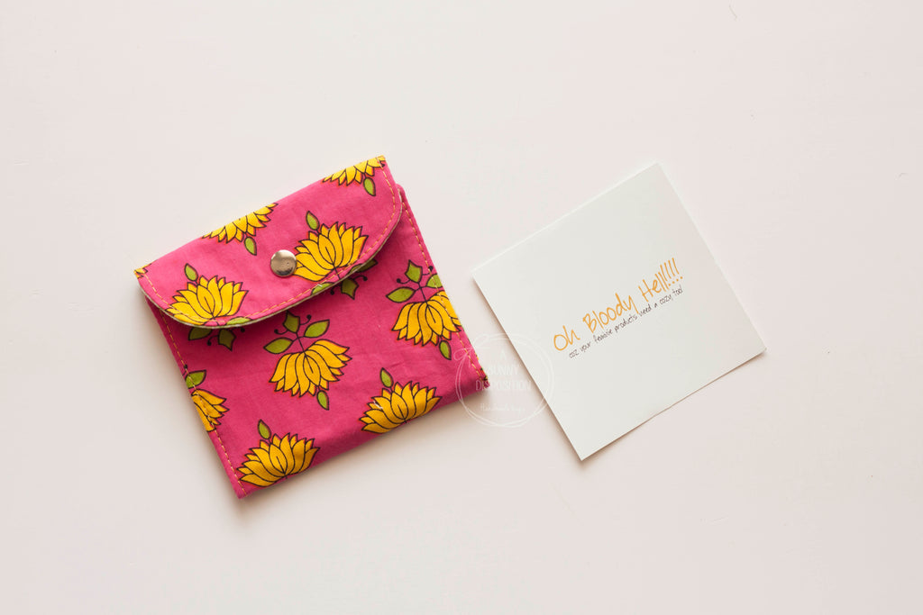 Lotus on Pink Privacy Pouch