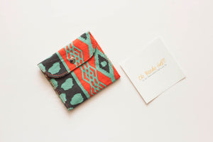Teal Orange Aztec Privacy Pouch