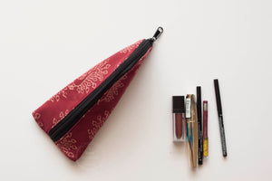 Peacock BlockPrint Pencil Case