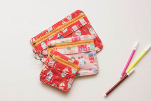 Hearts & Boats Trio Pouch