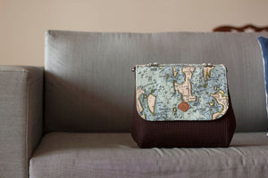 Map print Everyday Satchel