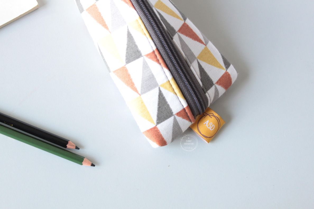 Triangles on Pencil Case