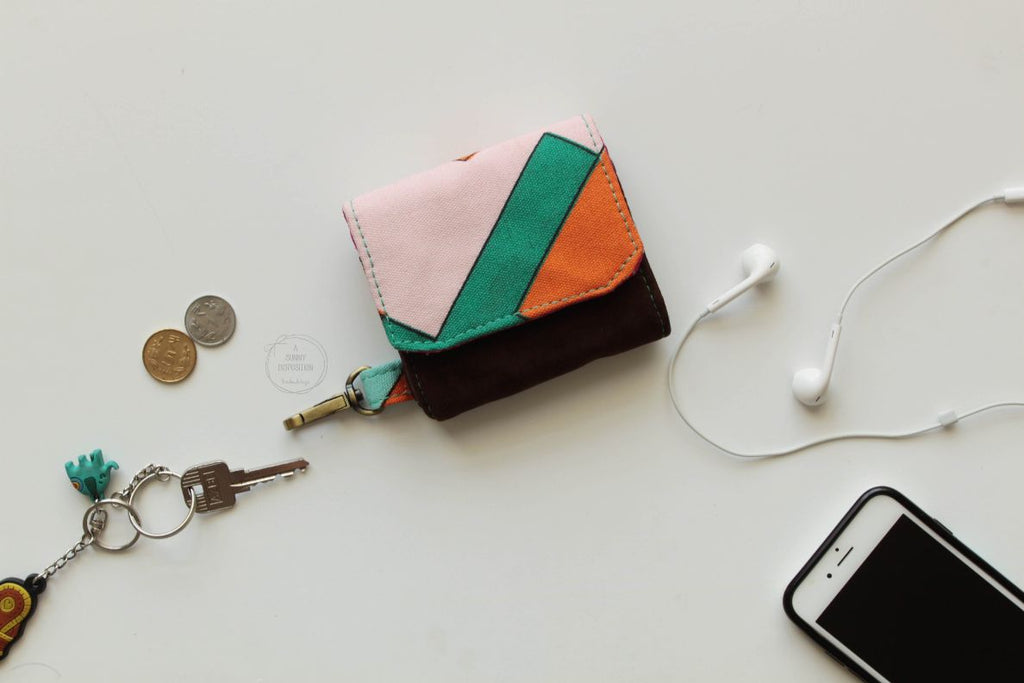 Geometric Prints Mini Wallets