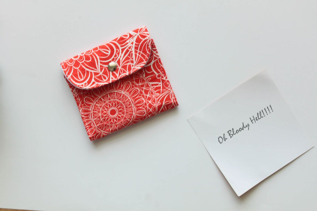 Red Floral Doodles Privacy Pouch