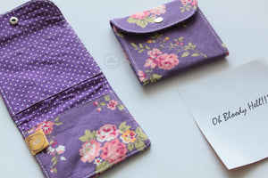 Florals on lavender Privacy Pouch
