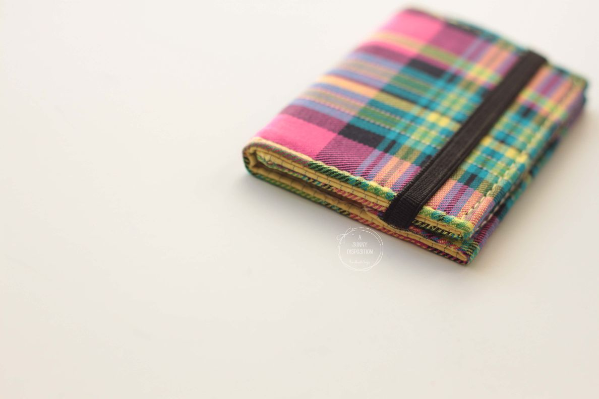 Multi Colour Checks Card Holder