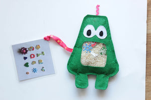 Dark Green iSpy Monster Bag