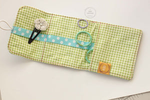 Florals on Mint Blue Clip Caddy