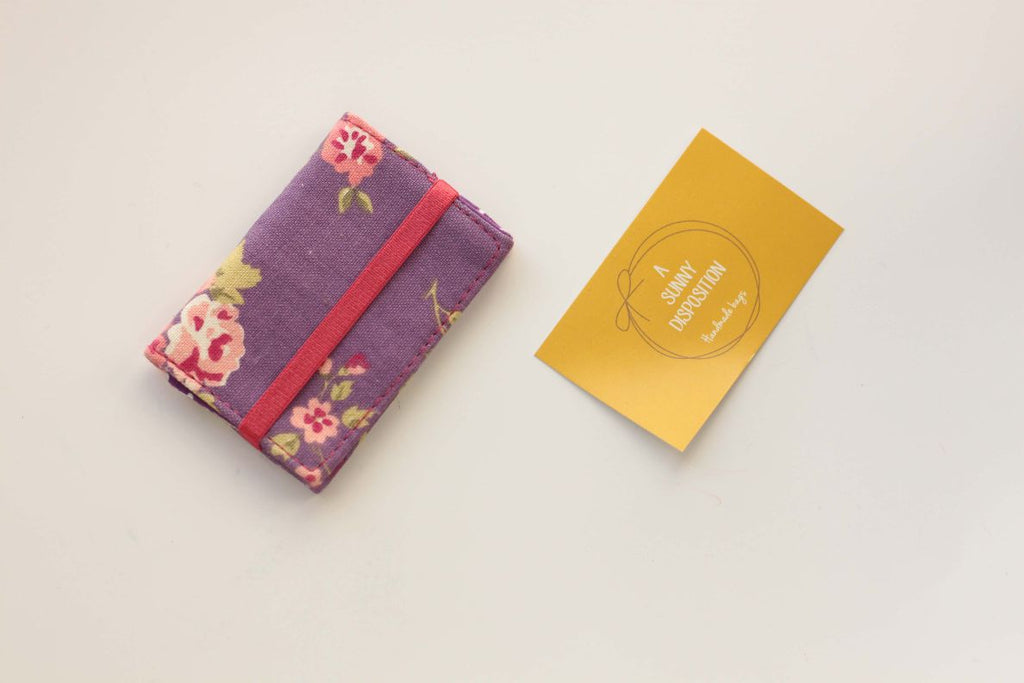 Lavender Floral Card Holder