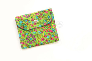 Florals on Green  Privacy Pouch