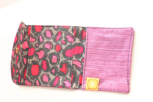 Purple Stripes  Privacy Pouch