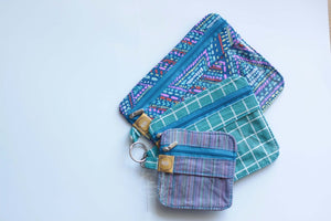 Grids, Stripes & Dots Trio Pouch
