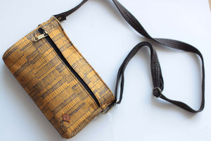 Mustard Yellow & Black Lines on  Mini Sling